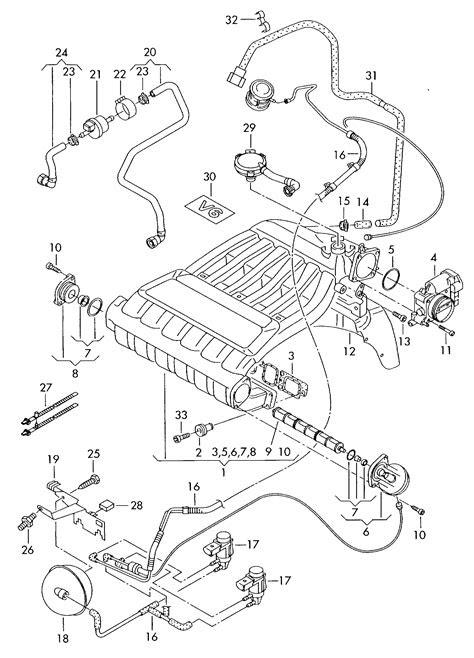 2003 Volkswagen Touareg Europe market: Engine Intake