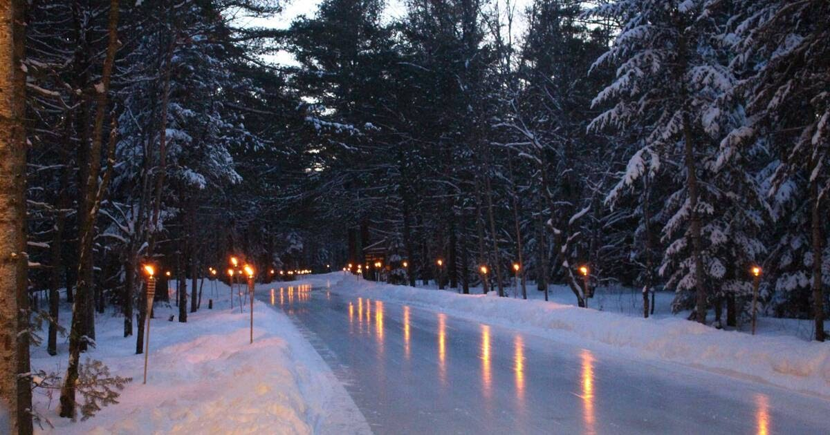 You can skate on a magical ice trail through a forest near Toronto this winter