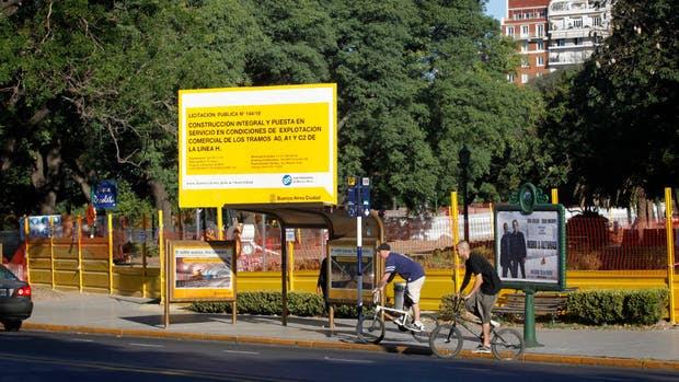 2012: antes, la plaza de la discordia, durante la obra