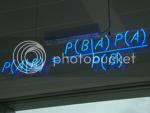 mattbuck's Bayes' Theorem neon sign photo