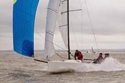 J/70 sailing on Solent