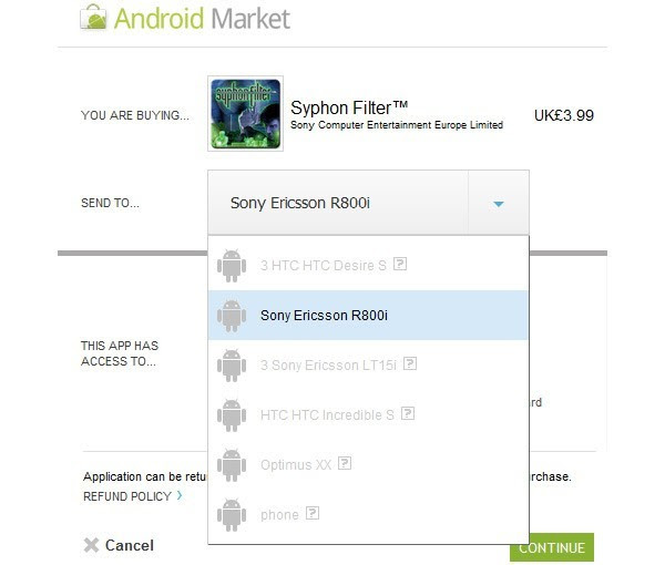 PlayStation One games on the Android Market