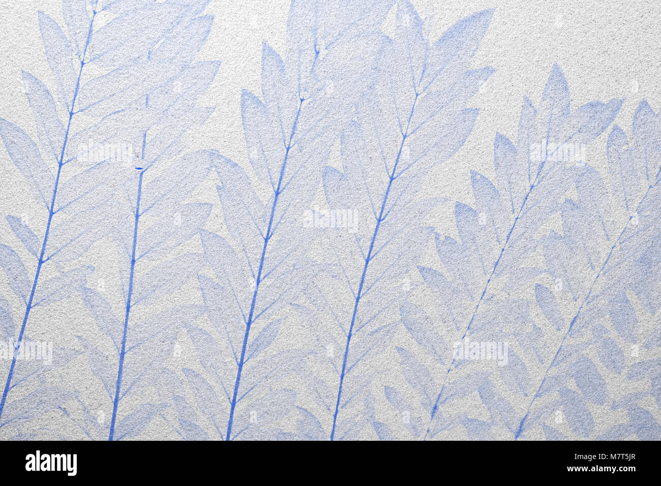 Blue Leaves Frosted Glass Texture As Background Interior Design