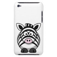 Cute and Funny Black and White Cartoon Zebra casemate_case