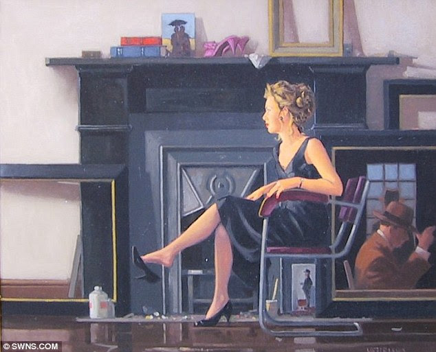 Stunning: Rachel in the Studio by Vettriano features a beautiful woman sitting on the red chair which is being sold on Saturday