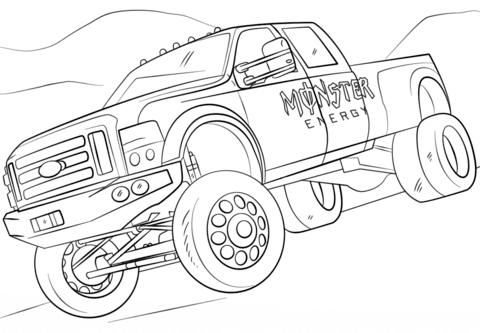 Monster Energy Monster Truck Coloring Page Free Printable Coloring Pages