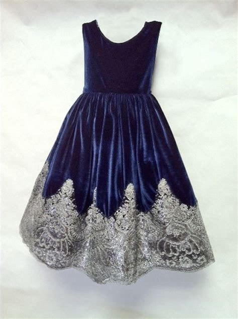 Navy Blue Bedding for Girls   special occasion flower girl