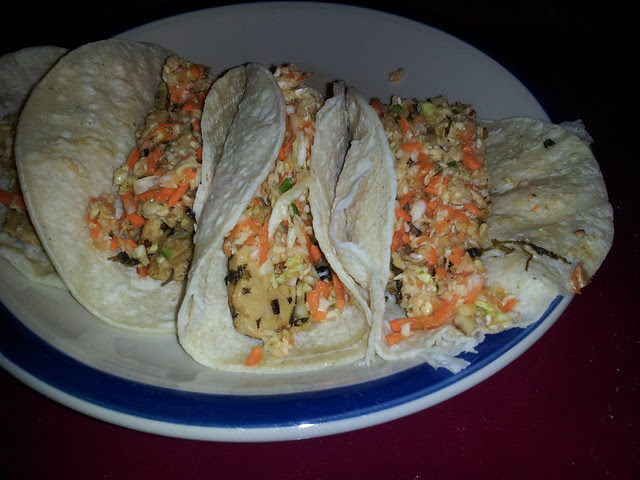 Tempeh tacos with Mexican slaw