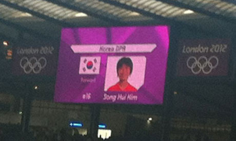 South Korea flag for North Korea players