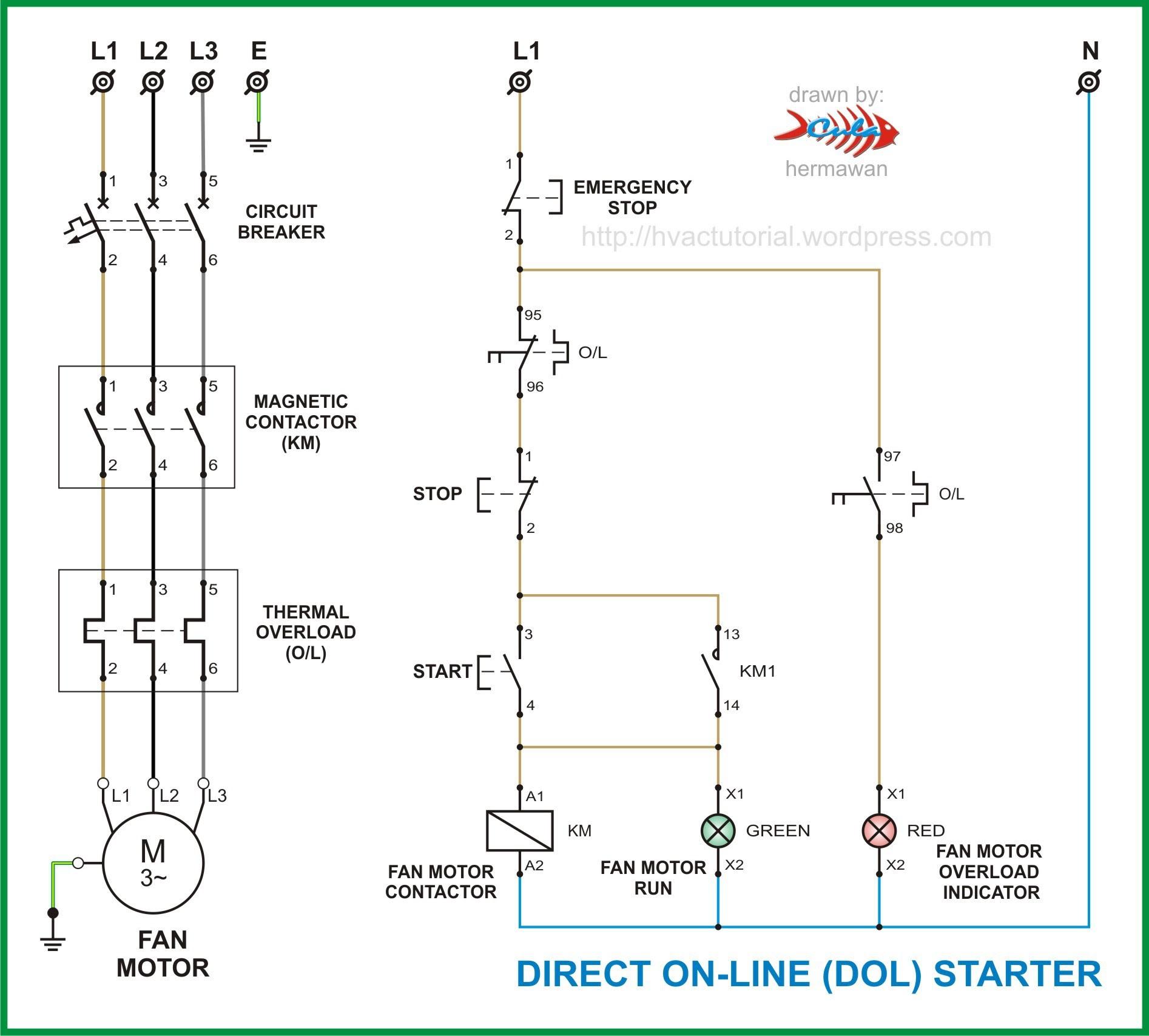 Paling Inspiratif Contactor Wiring Diagram Pdf