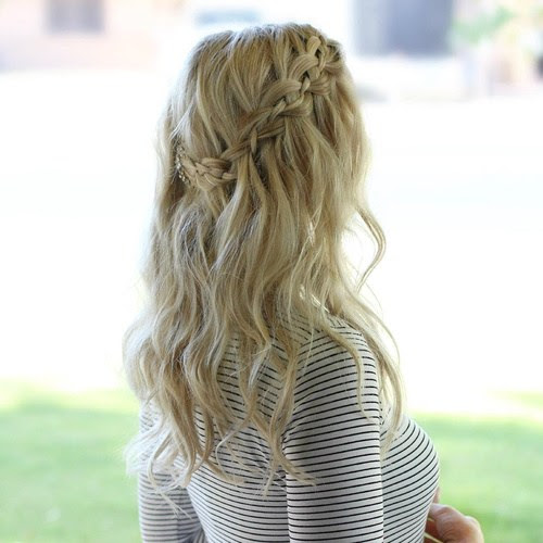 20 Gorgeous Waterfall Hairstyles: Cute Long Hair Style ...