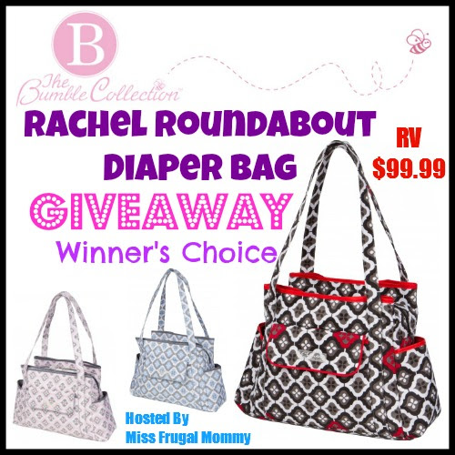 Rachel Roundabout Diaper Bag Giveaway (Winner's Choice)