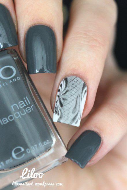 Graphite nail art