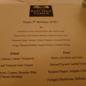 The Kitchen Table Bistro, Richmond VT @ A Bolder Table