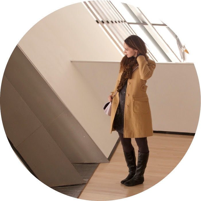 broad museum, art museums, what to wear to, camel wool coat, mossimo lavender corssbody purse, purple purse, leopard scarf, black and brown, winter weekend, outfitzzzz, EL, black boots