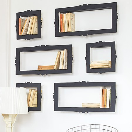 Baroque CD, DVD or Bookshelves eclectic wall shelves