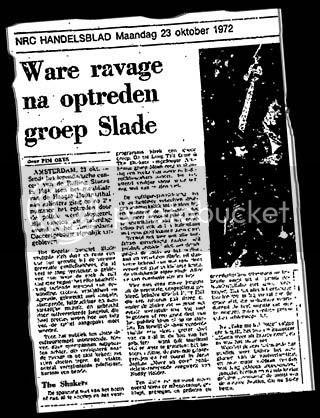 NRC Handelsblad Amsterdam review, 23rd October 1972 NRC Handelsblad Slade review