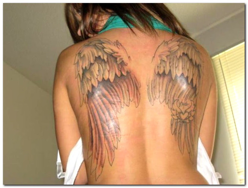 Fabulous Angel Wings Tattoo On Back Tattoomagz