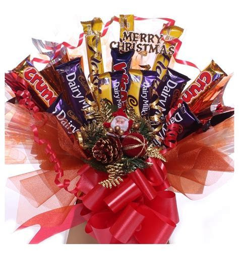 Christmas Chocolate Bar Bouquet pack with Cadbury Chocolate.
