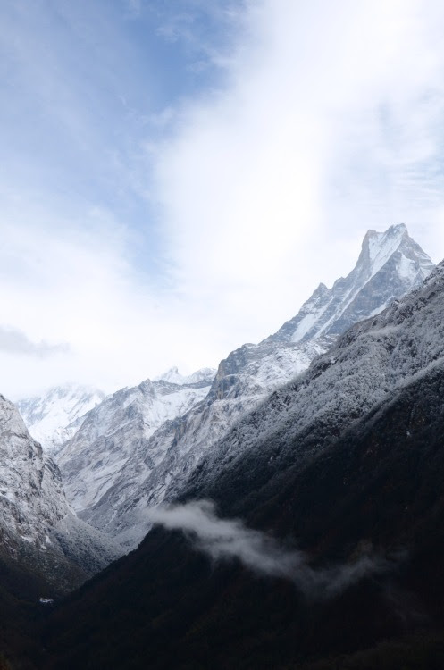 pearlkillers:  Looking back into the Himalayas after a blizzard swept inNepal, 2013