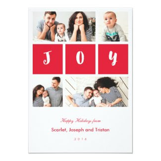 Joy Photo Collage Holiday Card