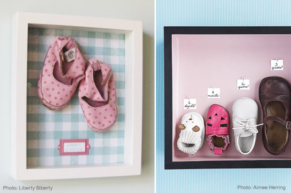 diy baby shoes frame growth chart