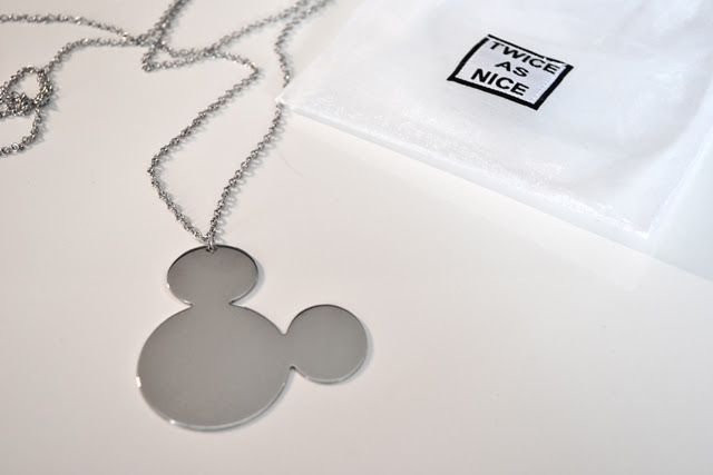 mickey mouse disney twice as nice necklace jewelry minimal