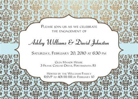 Free Printable Wedding Invitation Designs