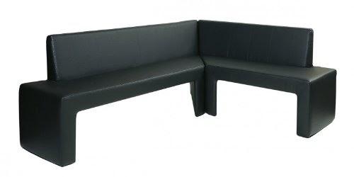 eckbankgruppe design eckbank karina modern kunstelder in schwarz links. Black Bedroom Furniture Sets. Home Design Ideas