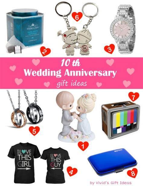 Traditional & Modern 10 Year Wedding Anniversary Gifts
