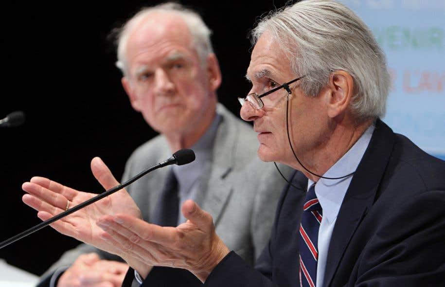 Gérard Bouchard et Charles Taylor en 2008
