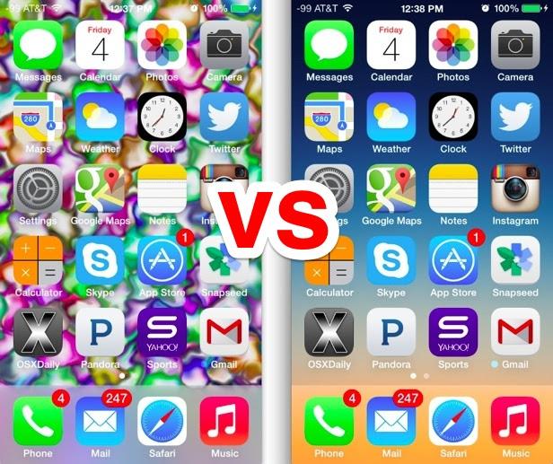 Wallpaper matters in iOS 7