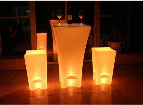 Plastic Led Lighted Up Commercial Furniture Illuminated