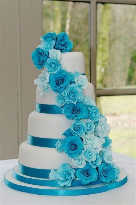 Turquoise Wedding Cakes on Pinterest   Turquoise Weddings