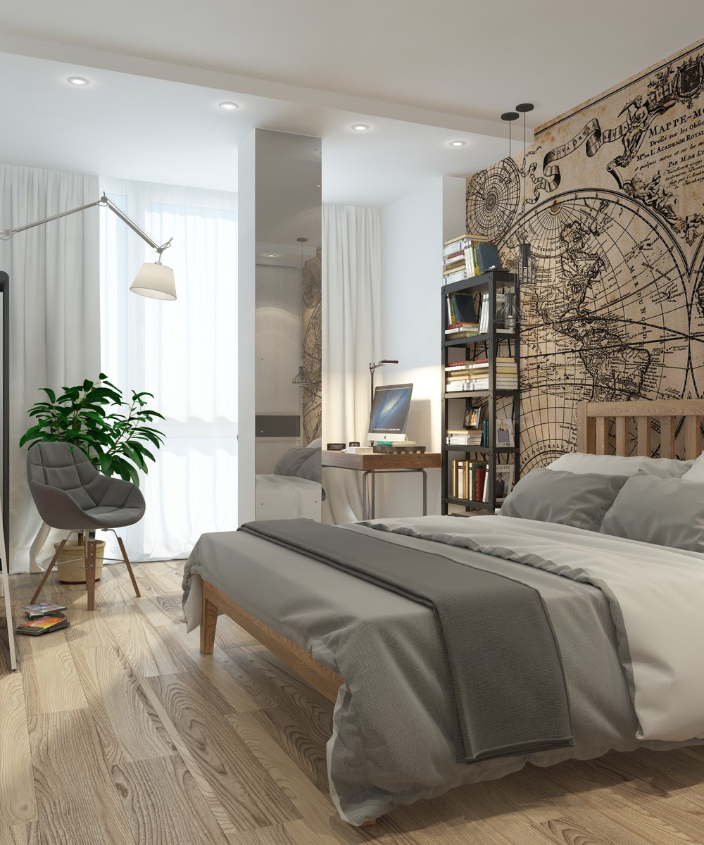 660+ Ide Bedroom Apartment Design HD Terbaik Untuk Di Contoh