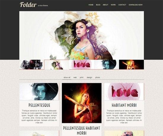 Folder free CSS template