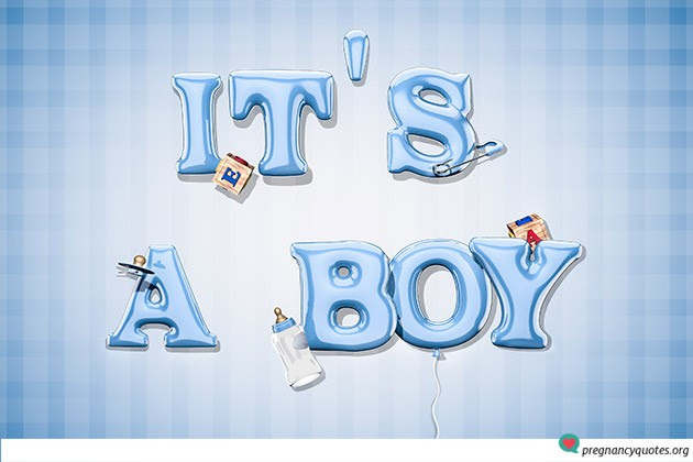 Creative Ways Of Using Its A Boy Pics To Announce Your New Baby