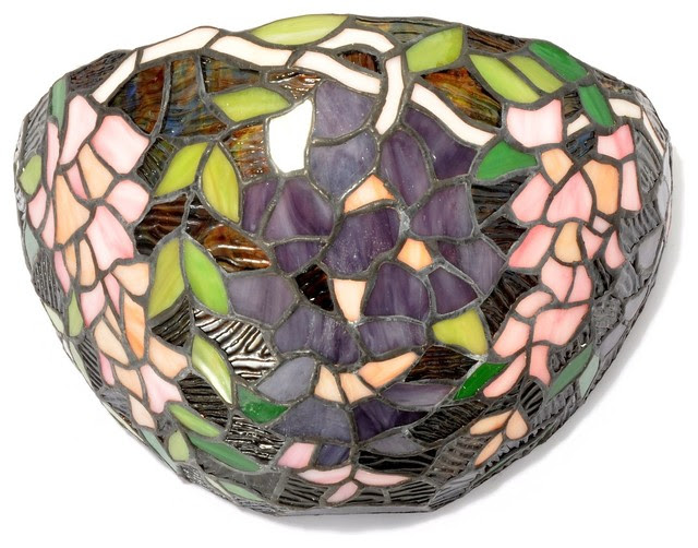Tiffany-style Wisteria Wall Light - traditional - wall sconces ...