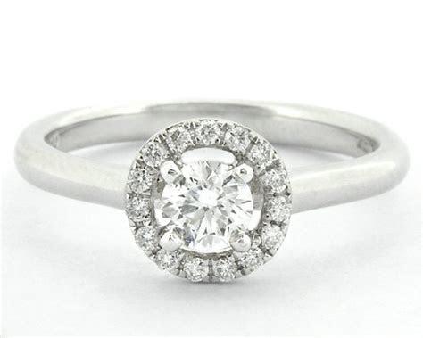 0.43 Carat Halo Diamond Engagement Ring HD001 Ireland