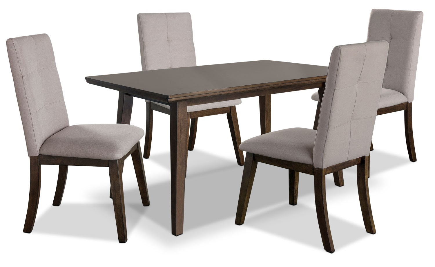 Chelsea 5-Piece Dining Table Package with Beige Chairs ...