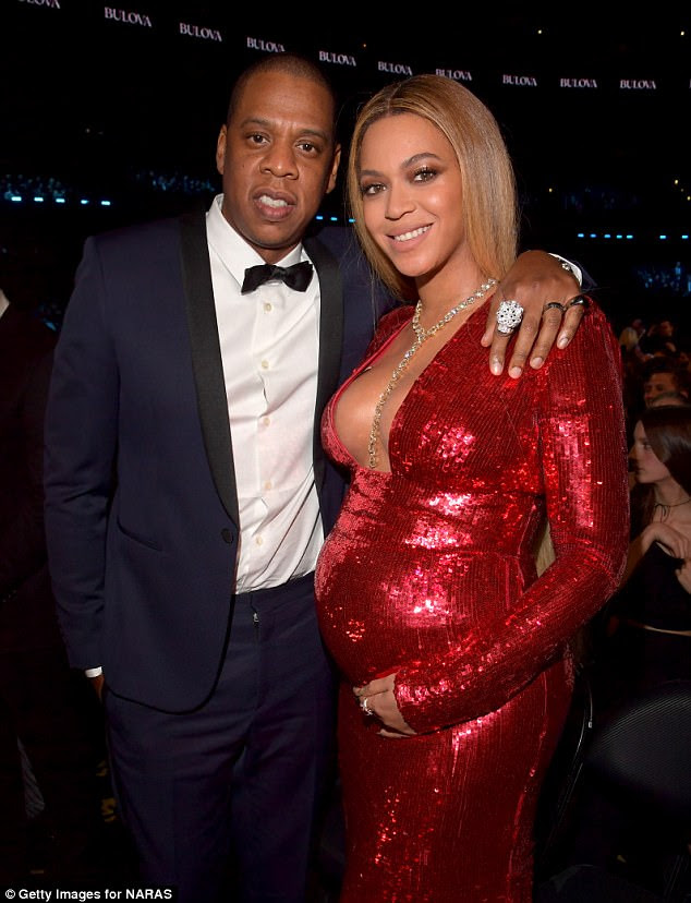 Happy times:Beyonce and Jay-Z have welcomed twin babies; her dad confirmed the news on Sunday. Here the couple is seen in February