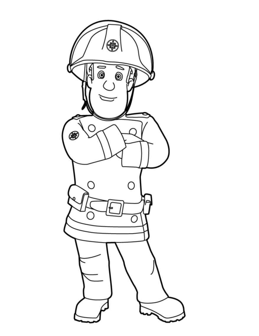 Image Coloriage sam le pompier gratuit