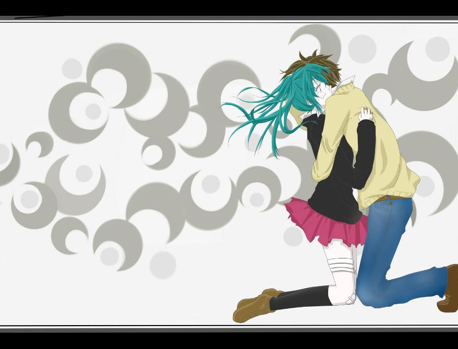 Wallpaper Hatsune Miku Rolling Girl by kazeyomi