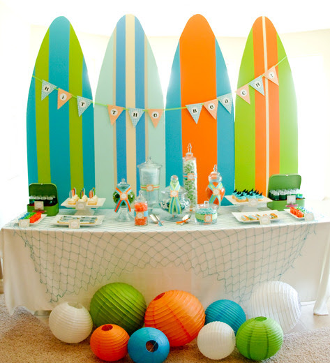 Surfs Up Surfing Kids Summer Party Ideas Itsy Belle