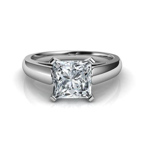 Cathedral Princess Cut Diamond Engagement Ring Natalie