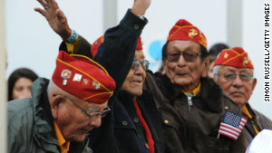Navajo code talkers attend the 2011 City Military Appreciation Day event to honor veterans and current service members in New York's Bryant Park on November 11, 2011. Image Courtesy of Simon Russell/Getty Images and CNN.com.