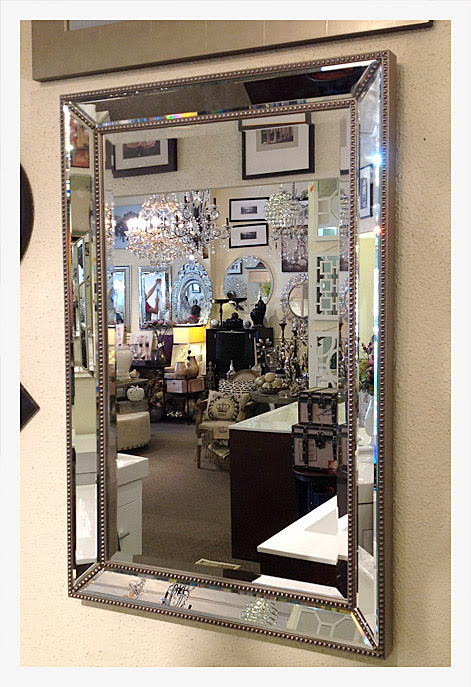 Beveled Mirror with Mirrored Frame TRA829012
