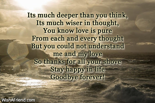 It Is Much Deep The Pain Goodbye Love Poem