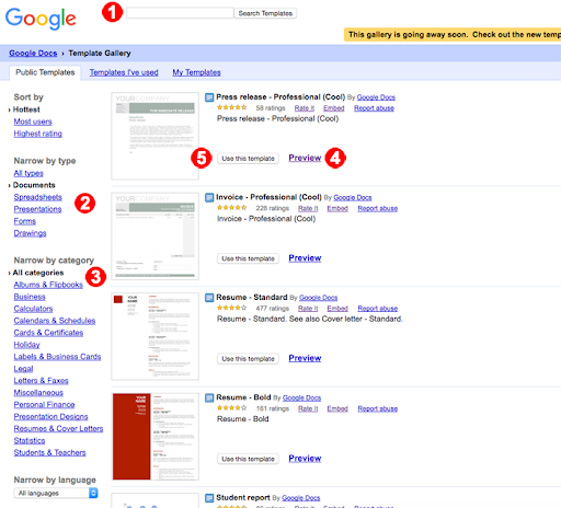 Google Sheets Templates - Docs Editors Help