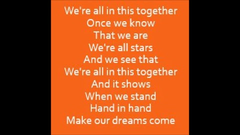 We Are All In This Together Lyrics High School Musical